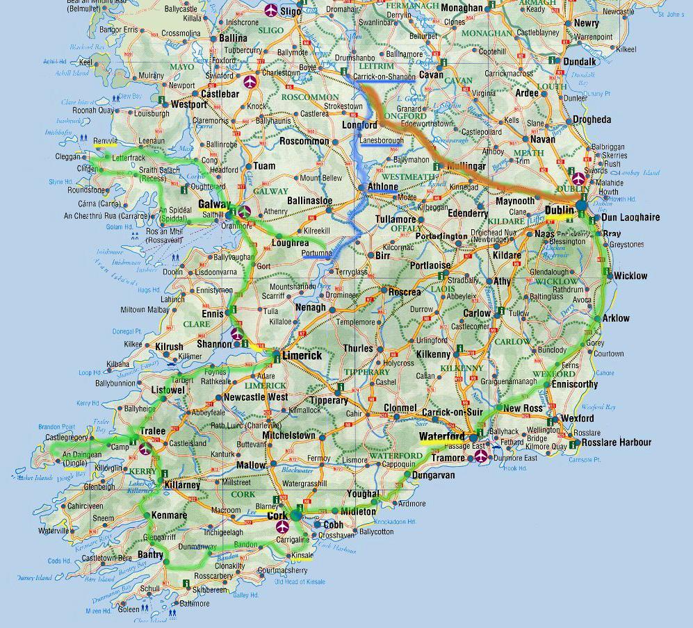 Blarney Ireland Map.Ireland Driving 2006 Photo Gallery